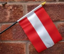 HAND WAVING FLAG (SMALL) - Austria